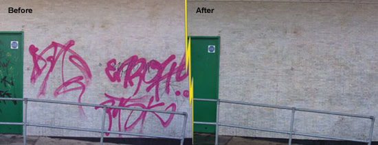 Graffiti Removal from Stucco